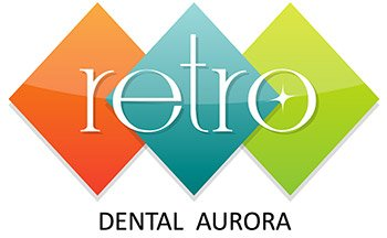 Retro Dental Aurora Logo