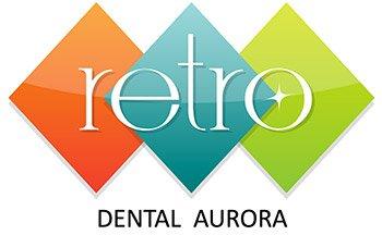 Retro Dental Aurora Logo